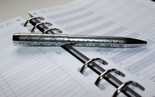 pen appointment calendar writing tool