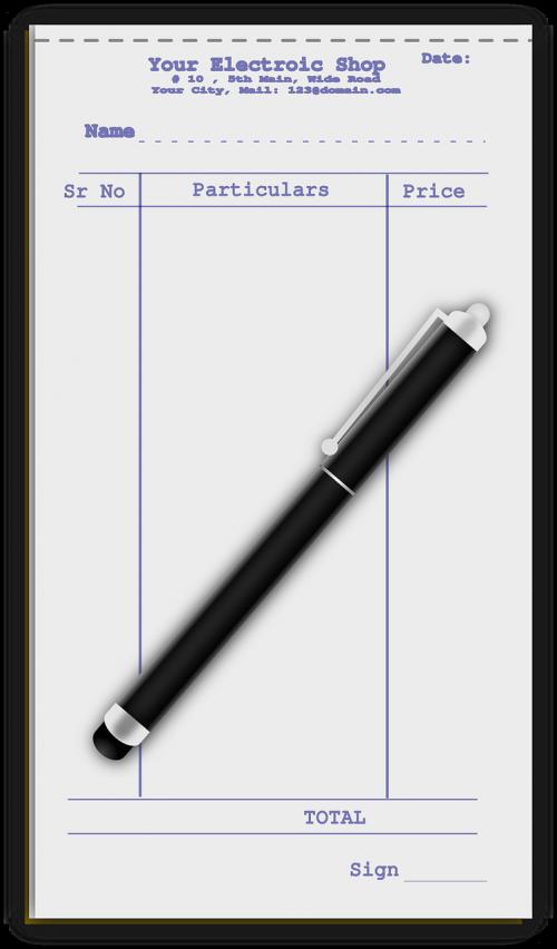 pen list paper