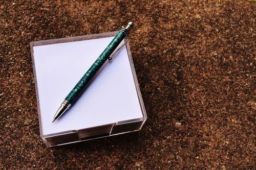pen stickies memo
