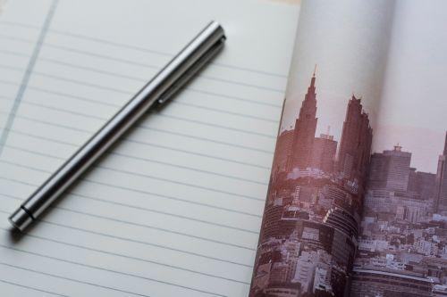 pen paper notebook