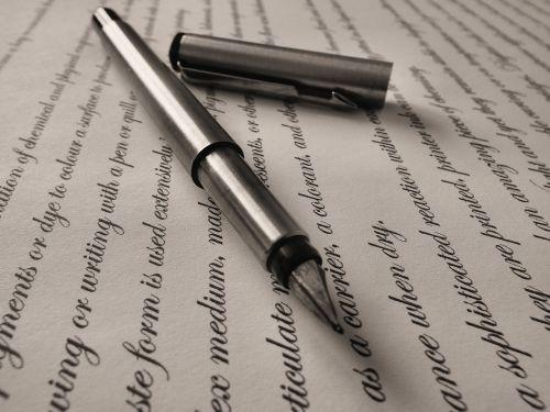 pen fountain pen writing