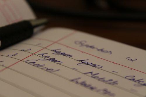 pen paper writings