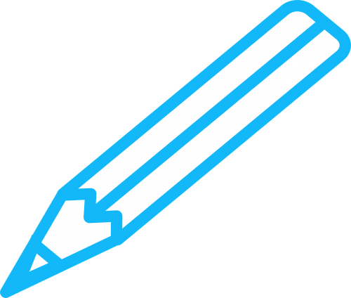 pen blue pencil