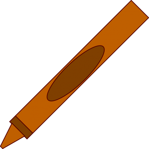 pen crayon brown