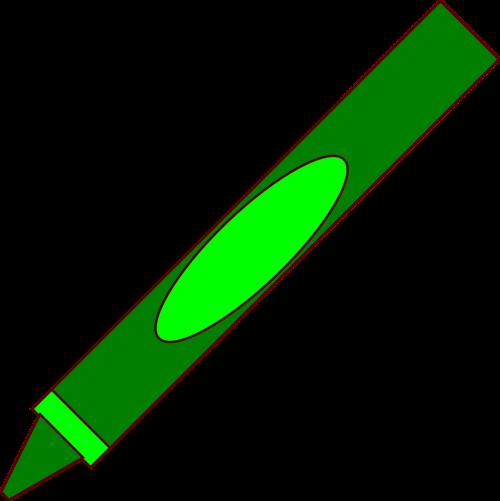 pen crayon green