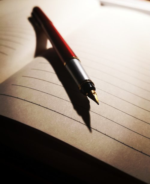 pen  notebook  pen and paper