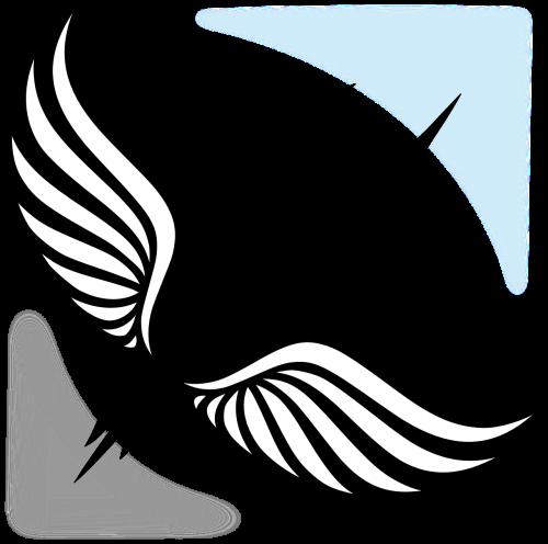 rašiklis,sparnas,sparnuotas rašiklis,rašymas,simbolis,skraidantis,nemokama vektorinė grafika