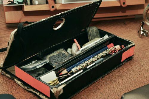 pen box pens hodge podge
