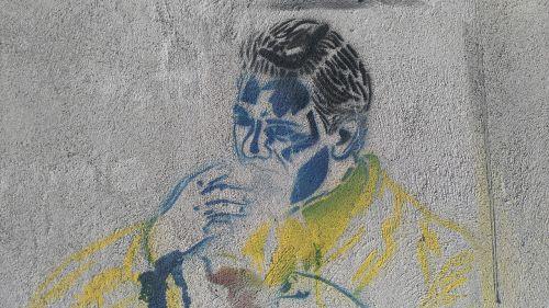 peña stencil streetart