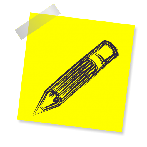 pencil sign icon