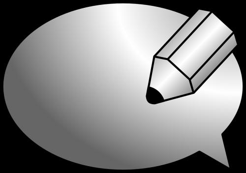 pencil bubble plain