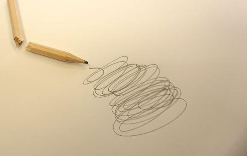 pencil scribble broken