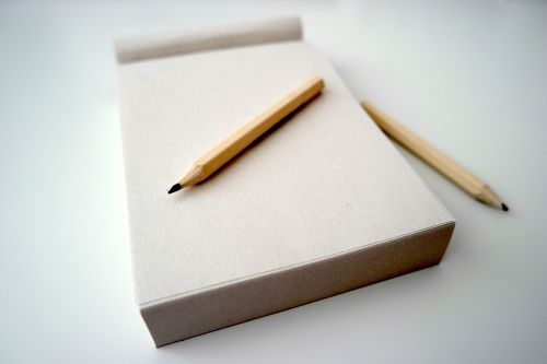 pencil notepad note