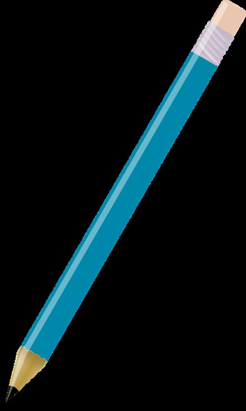 pencil school blue
