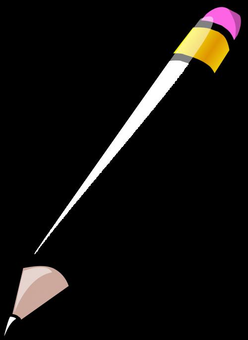 pencil white rubber