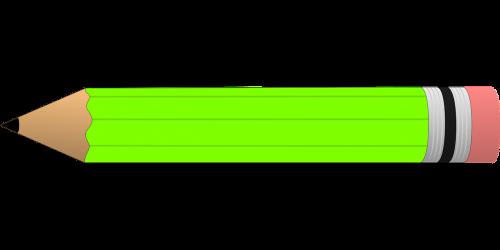 pencil green eraser