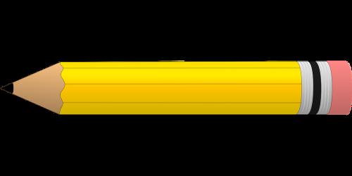 pencil yellow eraser