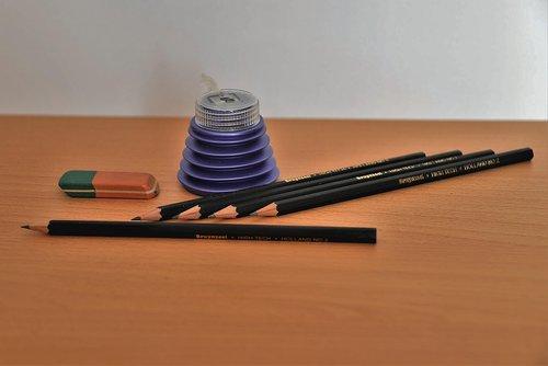 pencil  eraser  spitzer