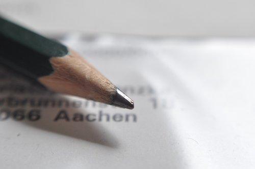 pencil  pen  letters