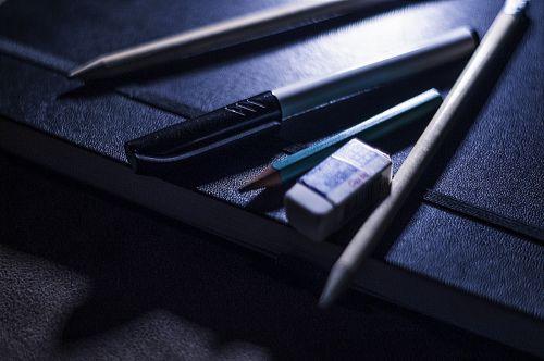 pencil pen eraser
