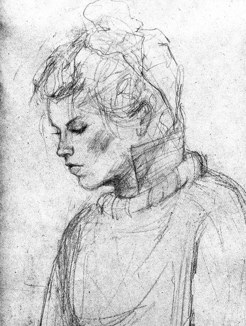 pencil drawing girl draw