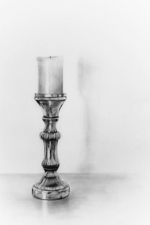 pencil drawing  pencil  candlestick