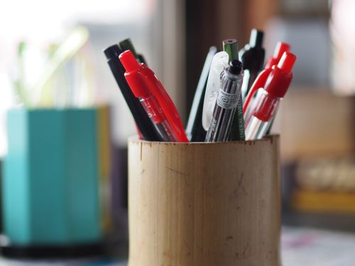 pencil freshly stationery ballpoint pen