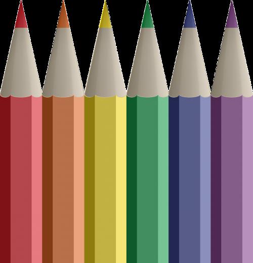 pencils pens coloured