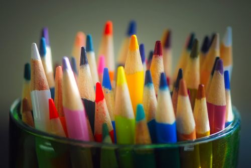 pencils colored colors