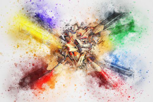 pencils color art