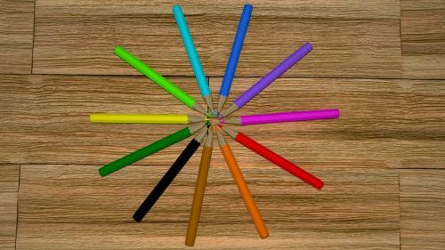 pencils pencils on the floor colored pencils