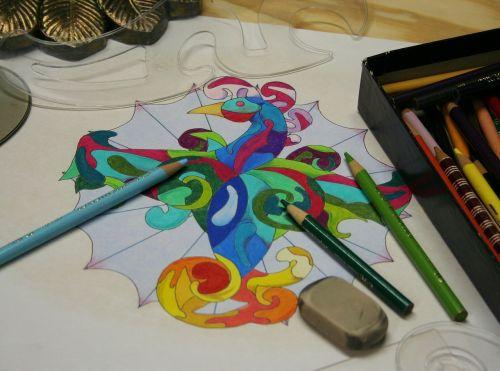 pencils coloured colour