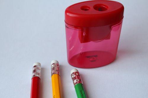 pencils sharpener eraser