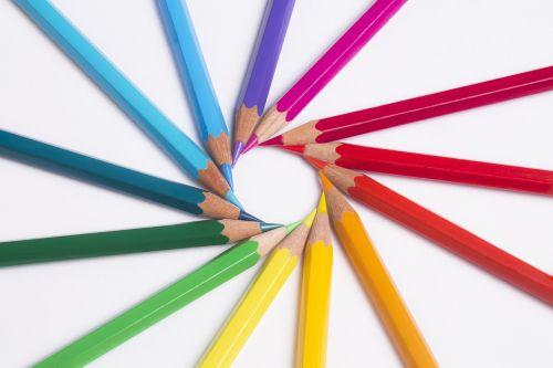 pencils colors pastels