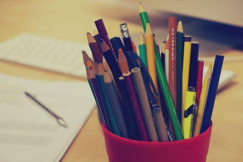 pencils pens stationary