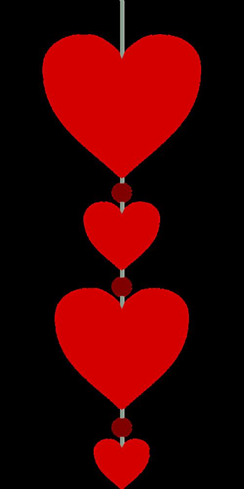 pendant heart valentine's day