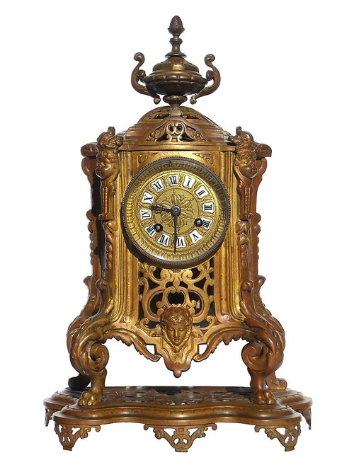 pendulum clock  antique  bronze