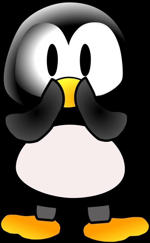 penguin surprised animal