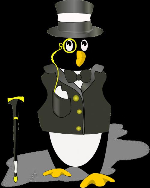 penguin tux black