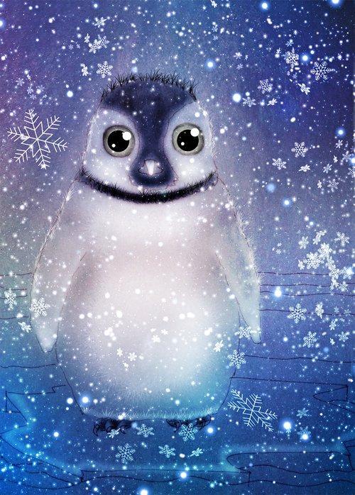 penguin  winter  antarctica