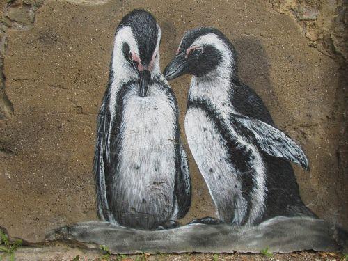 penguins wall art wall