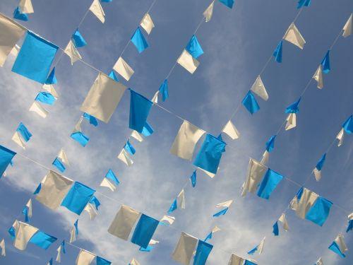 pennant garlands blue