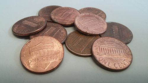 pennies penny coins