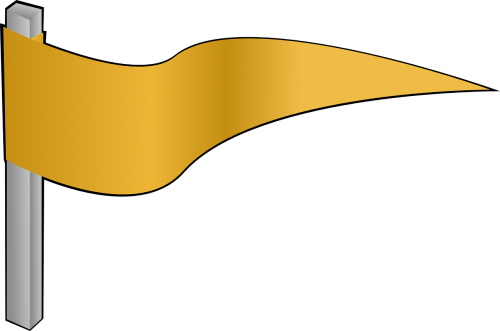 pennon flag yellow