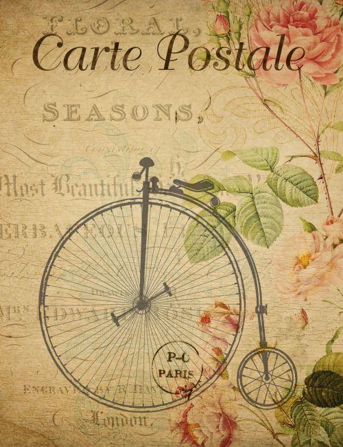 Penny Farthing Vintage Postcard