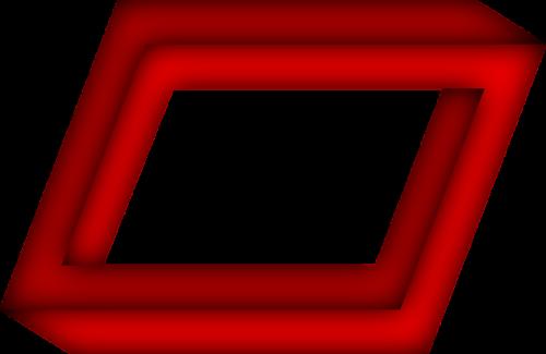 penrose rectangular the impossible rectangle optical deception