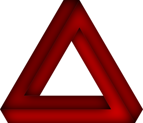 penrose triangle the impossible triangle optical deception