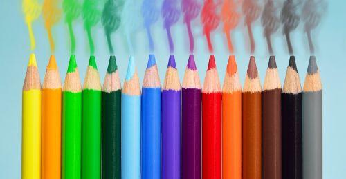 pens smoke colorful