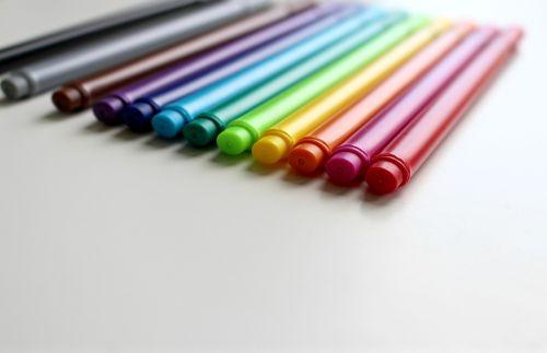 pens colour pencils colorful