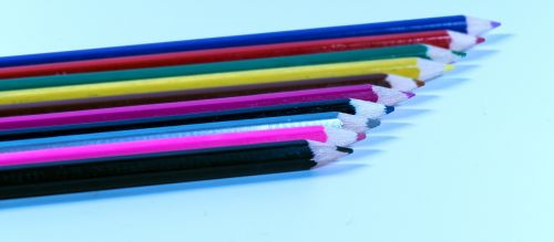 pens colored pencils colorful